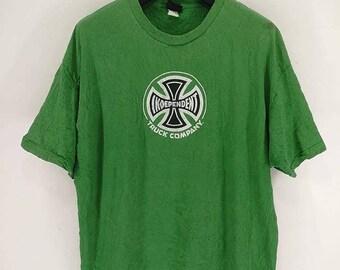 Sale Vintage 90s Independent Skateboard T Shirt Punk Grunge