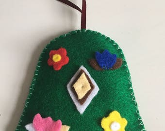 Christmas felt bell decoration