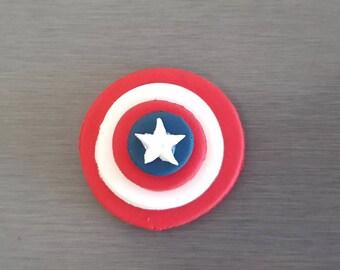 6 x Captain America Cupcake toppers, superhero party, Edible fondant Captain America cake toppers,