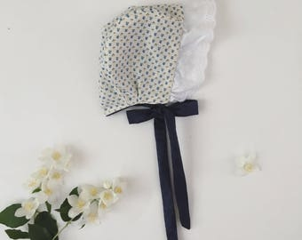 brimmed baby bonnet. bonnet cotton baby bonnet,organic cotton bonnet, cotton bonnet , baby girl bonnet, baby bonnet, summer bonnet.