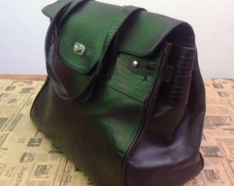 80s Enrico Vivalli | VTG style handbag birkin | 80s Vintage bag | 80s leather bag | Birkin style bag | Enrico Vivalli Bag | 80s Enrico Vival
