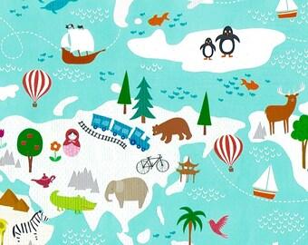 Papier cadeau TERRA – Paysages de la terre pour enfant