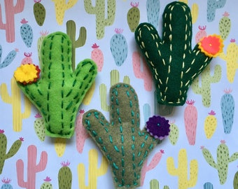 Cactus Succulent Cat Toy with Catnip and Jingle Bell