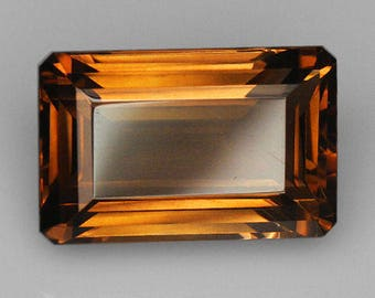 VVS 30.55CT 100% Natural Brillant Cut Champagne Smoky Quartz QSQG55