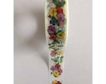 Washi Tape Masking Tape Ribbon tape 10 m PANSIES BOUQUET
