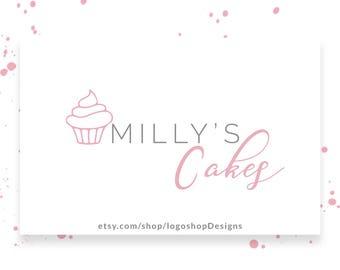 Bakery Logo Design, Cake Logo Premade, Cupcake Logo, Instant Logo Branding, Sweet Shop Logo Design, Premade Logo Design, DIY Logo, 0100