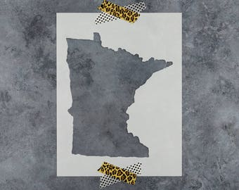 Minnesota Stencil - Hand Drawn Reusable Mylar Stencil Template