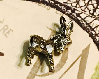 Adorable Vintage Sterling Silver Donkey Charm/Pendant