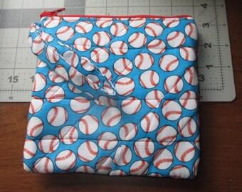 Baseball Zipper Pouch