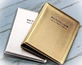 64 Pockets Gold / Silver Instax Mini Polaroid Photo Album Case | For Fujifilm Camera 8/7s/25 | Memory Pocket Album