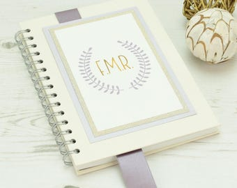 Personalised Sparkly Initials Notebook