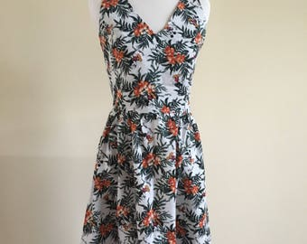 Hawaiian Mickey Mouse Halter Dress