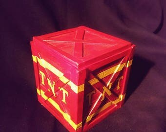 Hand made Crash Bandicoot TNT wood box