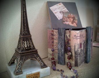 vintage wooden box romantic theme (paris)