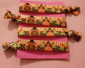 Set of 4 Turkey elastic Hair ties