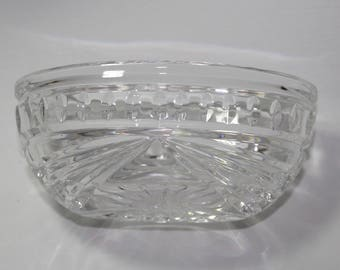Waterford Mayonnaise or Condiment Bowl, Overture pattern, signed