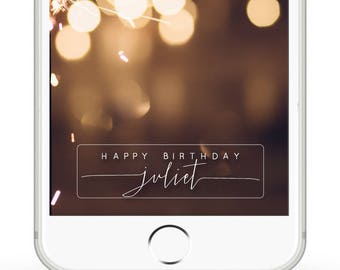 Custom Birthday Snapchat filter- Simple name