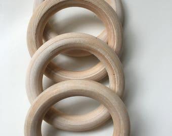 50MM wooden teething rings*natural wood* untreated wood