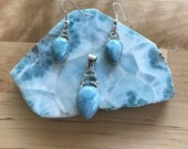 Larimar pendant/earrings set