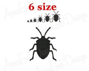 Beetle Embroidery design. Beetle Silhouette. Beetle mini Embroidery. Beetle design. Halloween Beetle Design. Machine Embroidery Design.