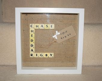 Custom Wedding Gift, Personalized Wedding, Bridal Shower Gift, Scrabble Frame, Engagement Gift, Anniversary Gift, Gift for Couple, Wedding