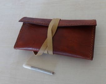 Handmade, Tobacco Pouch, Hand Stitched, Full Grain Leather