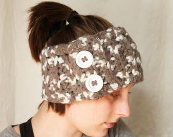 Handmade Crochet Neutral Thick Ear Warmer