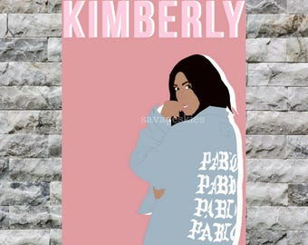 kim kardashian minimalist print // kanye west // kim kardashian west // poster simple