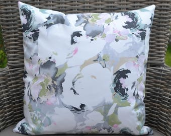 FLORAL PILLOW-COVER, floral print, for decorative pillow,  40X40 cm/ 15,7x15,7 inch