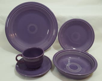 Fiesta Lilac 5 Piece Place Setting #1