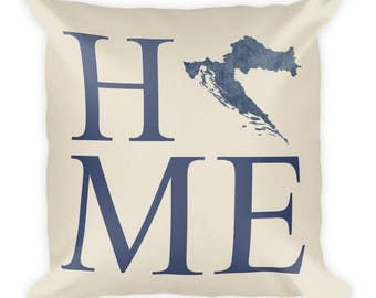 Croatia Pillow, Croatia Gifts, Croatian Decor, Croatia Home, Croatia Throw Pillow, Croatia Art, Croatia Map, Croatia Cushion, Croatian Art