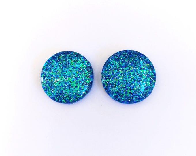 The 'Air Bender' Glitter Glass Earring Studs