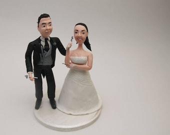 Wedding cake topper Doctors , Personalised medicine bottles tablets. Wedding keepsake. The bride and groom. Cake decoration. Party nurse