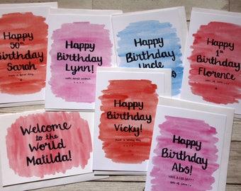 Personalised bespoke card, personalised valentine's card, special name card, custom wording special card, bespoke personalised card, card