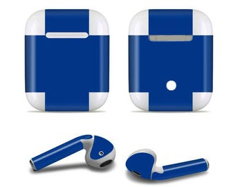 Apple custom made blue Airpod Skins Decals for Apple Airpods Protective Wraps