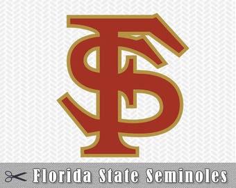 Florida State Seminoles Layered SVG Dxf Logo Vector File Silhouette Studio Cameo Cricut Design space Template Stencil Vinyl Decal Tshirt