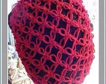 Hand crochet 1940s lacy hair snood made to order lots of colours