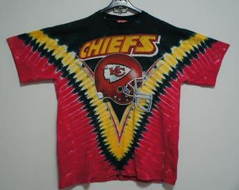 Vintage Kansas City Chiefs KC NFL American Football Tie dye