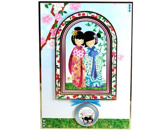 Oriental theme, very special friend, just because, card for friend, card for her, any occasion card