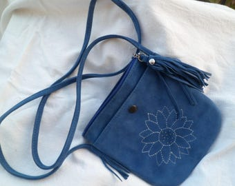 Small suede pouch or cellphone case
