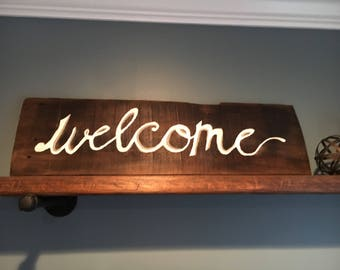 Welcome farmhouse inspired sign