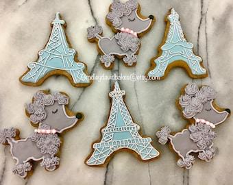 Paris & Poodle Cookies!!  Eiffel Tower cookies.