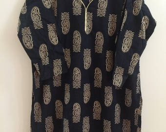Indian Bollywood Cotton Kurti Kurta Tunic Top