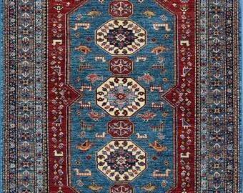 35% OFF Final sale 150 x 200 cm Beautiful hand knotted Super kazak rug 100 Percent wool