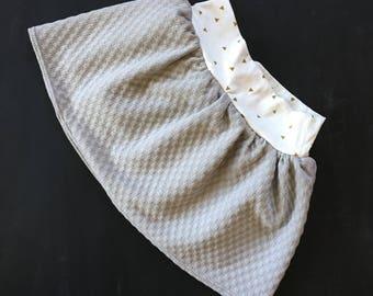 toddler skirt, baby skirt, gray skirt, grey skirt, fall skirt