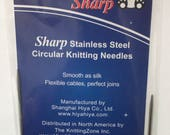 "Hiya Hiya 9"" Sharp Circular Needles"