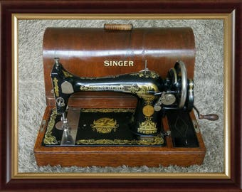 Singer 127K | Antique Sewing Machine | Made in Clydebank Scotland 1927 | Machina da Cucire | Machine à Coudre | Nähmaschine | FREE Shipping*
