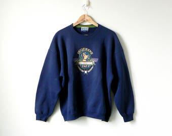 80s Duquesne Sweatshirt - Duquesne University - 80s Sweatshirt - Vintage Sweatshirt - College Sweatshirt - Oversized Sweatshirt - Men's XL