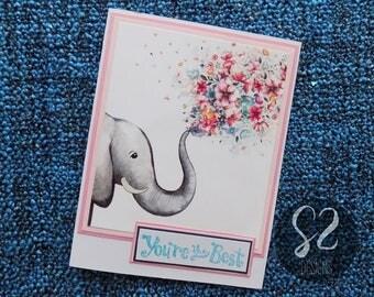 Handmade Elephant You're the Best Card