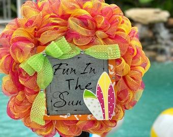 Fun in the Sun Surfboard Wreath